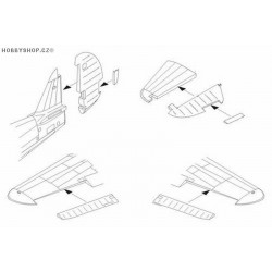 P-40E/M/N control surfaces set - 1/72 set
