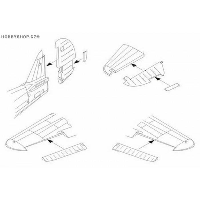 P-40E/M/N control surfaces set - 1/72 set