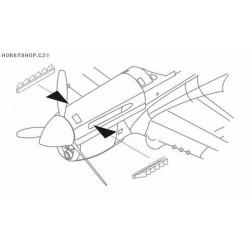P-40E exhaust - 1/72 set