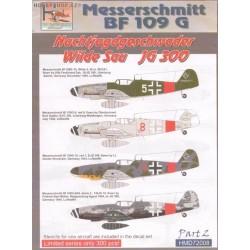 Bf 109G Wilde Sau JG 300 - 1/72 decal