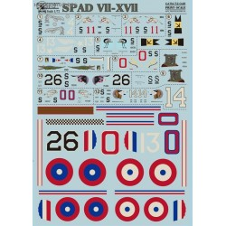 SPAD VII-XVII - 1/72 decal