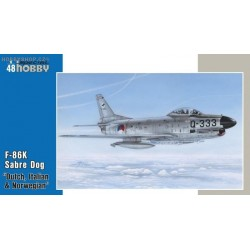 F-86K Sabre Dog Dutch, Italian, Norwegian - 1/48 kit