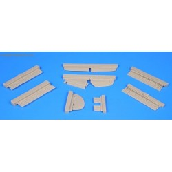 P-40B/C control surfaces set - 1/72 set