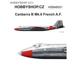Canberra B Mk.6 Armée de l'Air  - 1/48 decal