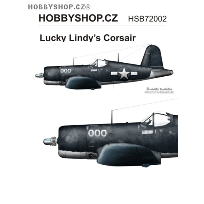Lucky Lindy's Corsair  - 1/72 decal