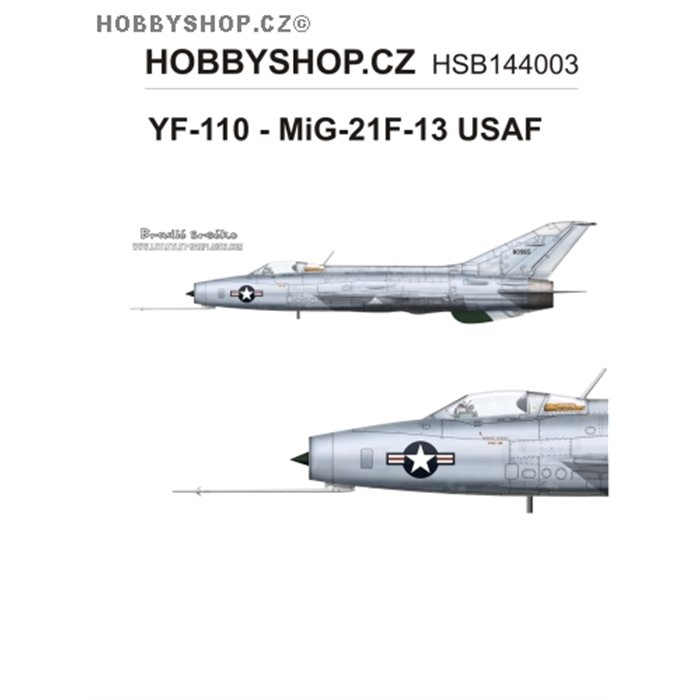 YF-110 - MiG-21F-13 USAF  - 1/144 decal