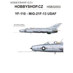 YF-110 - MiG-21F-13 USAF  - 1/32 decal