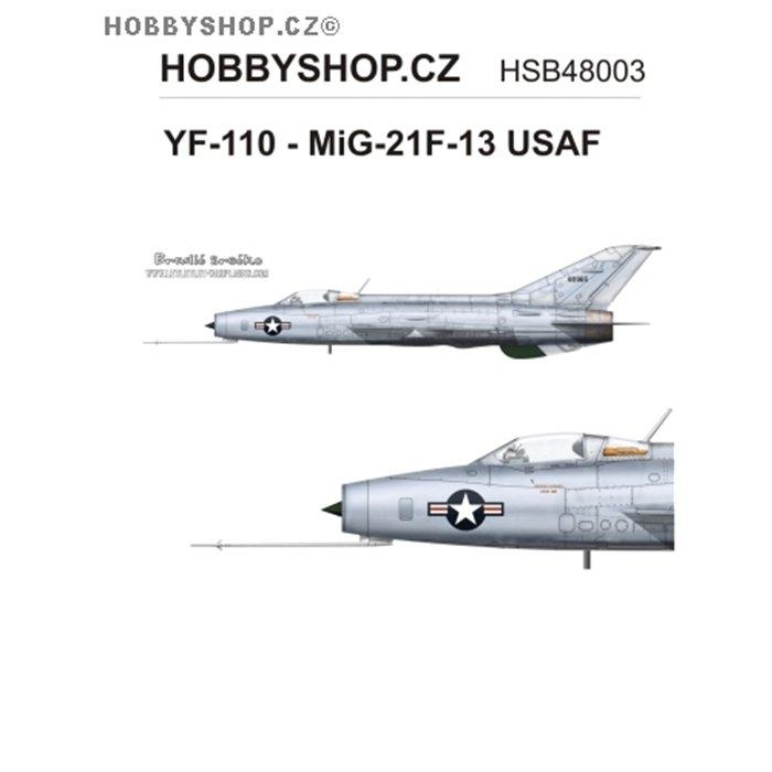 YF-110 - MiG-21F-13 USAF  - 1/48 decal