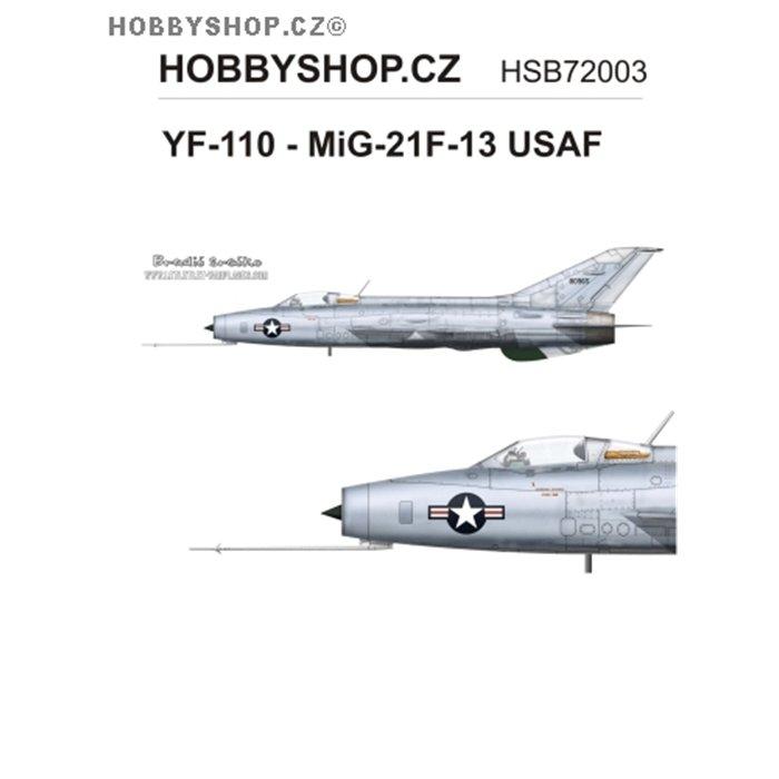 YF-110 - MiG-21F-13 USAF  - 1/72 decal