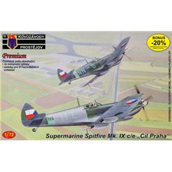 "Supermarine Spitfire Mk.IXC/E ""Cíl Praha"" - 1/72 kit"