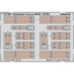 Seatbelts France WWII STEEL - 1/32 barevný leptaný set