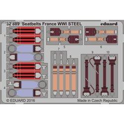 Seatbelts France WWI STEEL - 1/32 barevný leptaný set