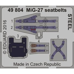 MiG-27 seatbelts STEEL - 1/48 leptaný set