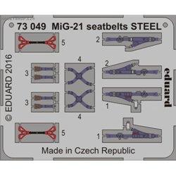 MiG-21 seatbelts STEEL - 1/72 barevný leptaný set