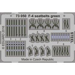 F-4 seatbelts green STEEL - 1/72 barevný leptaný set