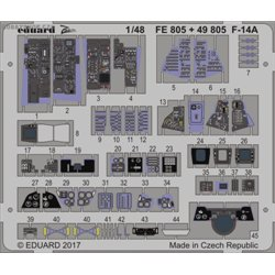 F-14A interior - 1/48 leptaný set