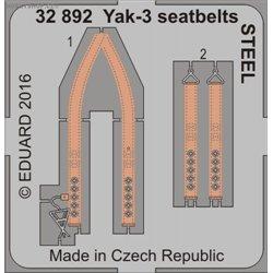 Yak-3 seatbelts STEEL - 1/32 leptaný set