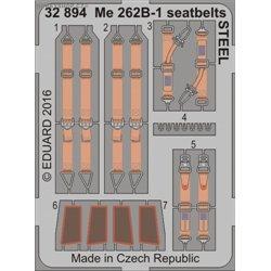 Me 262B-1 seatbelts STEEL - 1/32 leptaný set