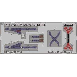 MiG-21 seatbelts STEEL - 1/32 barevný leptaný set