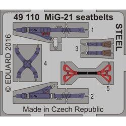 MiG-21 seatbelts STEEL - 1/48 barevný leptaný set