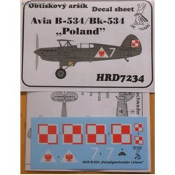 Avia B-534 Poland - 1/72 decal