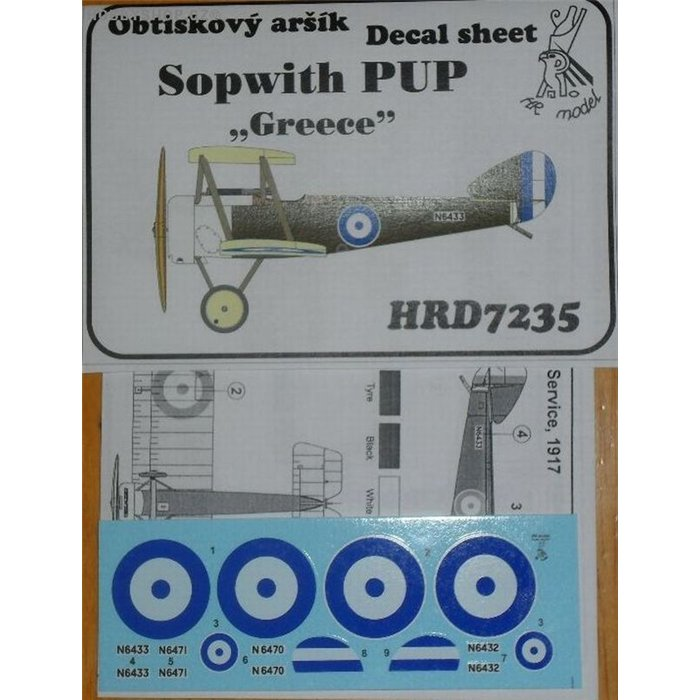Sopwith Pup Greece - 1/72 decal