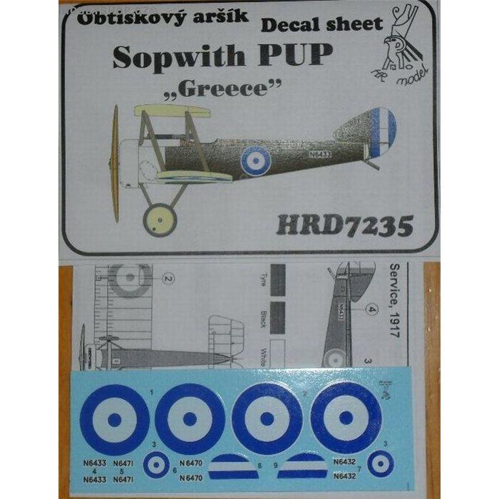 Sopwith Pup Greece - 1/72 decal