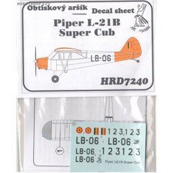 Piper L-21B Super Cub Belgium - 1/72 decal