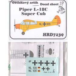 Piper L-18 Super Cub Germany - 1/72 decal