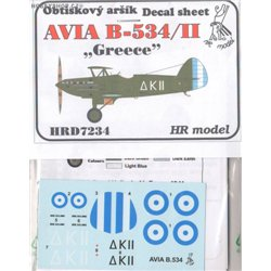 Avia B-534/II Greece - 1/72 decal