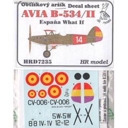 Avia B-534 Spain What if? - 1/72 decal