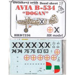 Avia B-534 Dogan - 1/72 decal