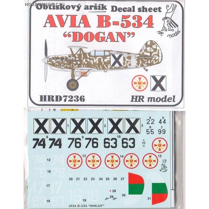 Avia B-534 Dogan - 1/72 decal