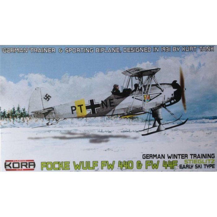 Focke-Wulf Fw 44D/F German early type ski - 1/72 kit