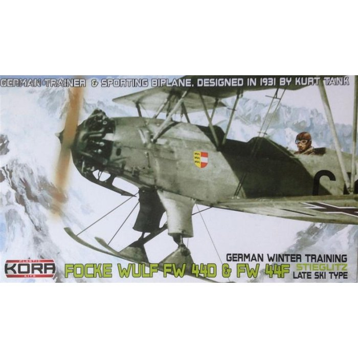 Focke-Wulf Fw 44D/F German late type ski - 1/72 kit