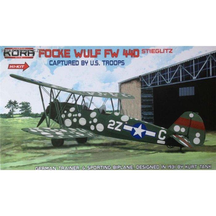 Focke-Wulf Fw 44D USAAF captured special marking Hi-Kit - 1/72 kit