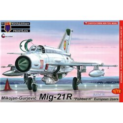 Mig-21R Fishbed H European Users - 1/72 kit