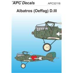 Albatros D.III Oeffag s. 253 - 1/32 decal