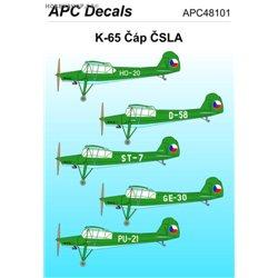 K-65 ČSLA - 1/48 decal