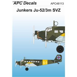 Junkers Ju 52/3m SVZ - 1/48 decal