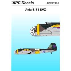 Avia B-71 SVZ - 1/72 obtisk