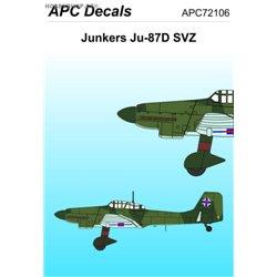 Junkers Ju 87D-5 SVZ - 1/72 decal