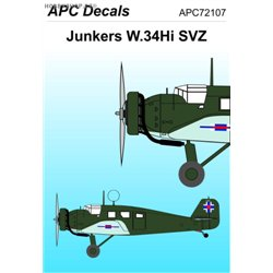 Junkers W.34 SVZ - 1/72 decal