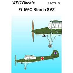 Fieseler Fi 156 Štorch SVZ - 1/72 obtisk