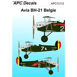 Avia BH-21 in Belgia - 1/72 decal