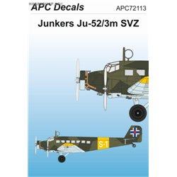 Junkers Ju 52/3m SVZ - 1/72 obtisk