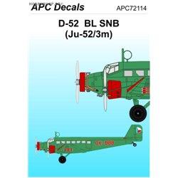 Junkers Ju 52/3m BL SNB - 1/72 obtisk