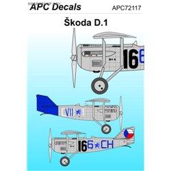 Škoda D.1 - 1/72 decal