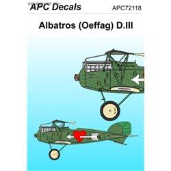 Albatros D.III Oeffag s. 253 - 1/72 decal