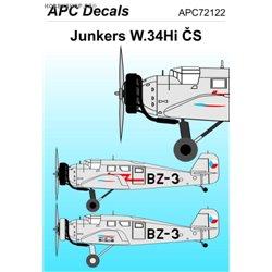 Junkers W.34 ČS - 1/72 obtisk